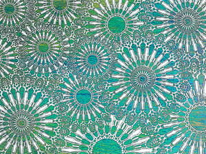 Ocean Lace - Turquoise Abstract Sea Urchin Art